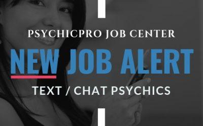 New Job Alert: Chat/Text Reader