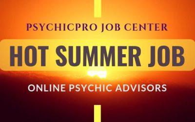 HOT Job for Summer: Online Psychic Advisors
